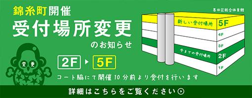 錦糸町の受付場所変更